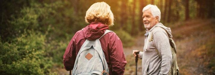 Chiropractic Vernon BC Elderly Couple Hiking