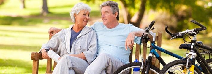 Chiropractic Vernon BC Elderly Couple Biking