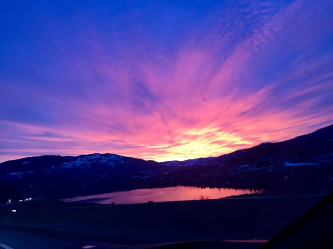 Chiropractic Vernon BC Sunset